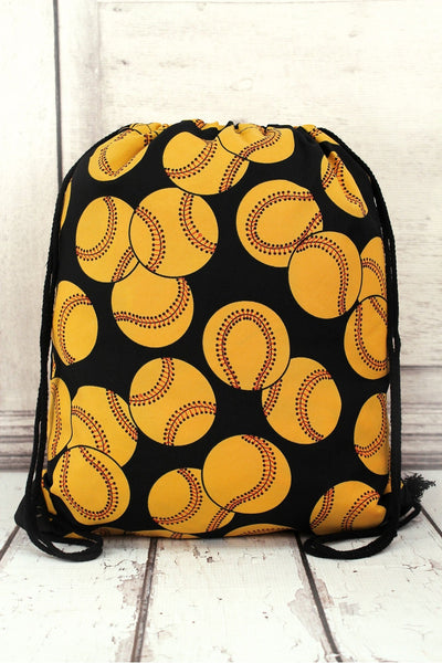 NGIL Softball Drawstring Backpack
