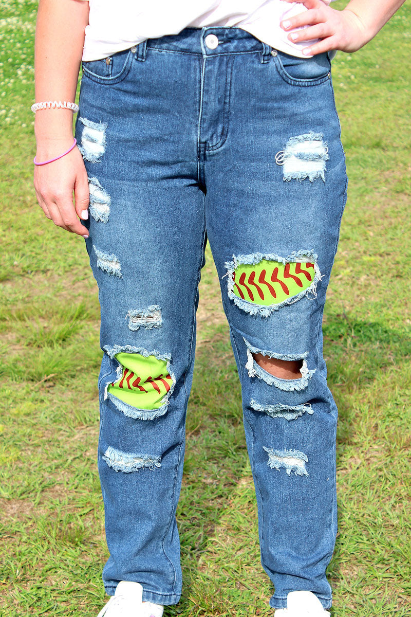 Softball Ripped Jeans