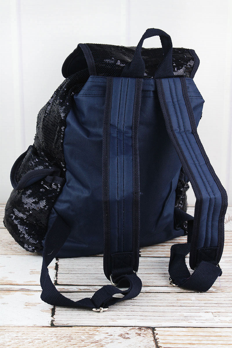 SALE! NGIL Navy and Silver Mermaid Sequin Drawstring Backpack