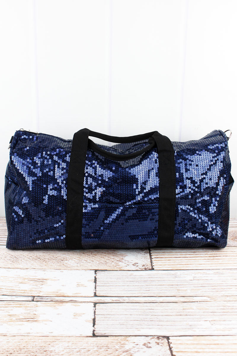 SALE! NGIL Navy Sequined Duffle Bag 21""