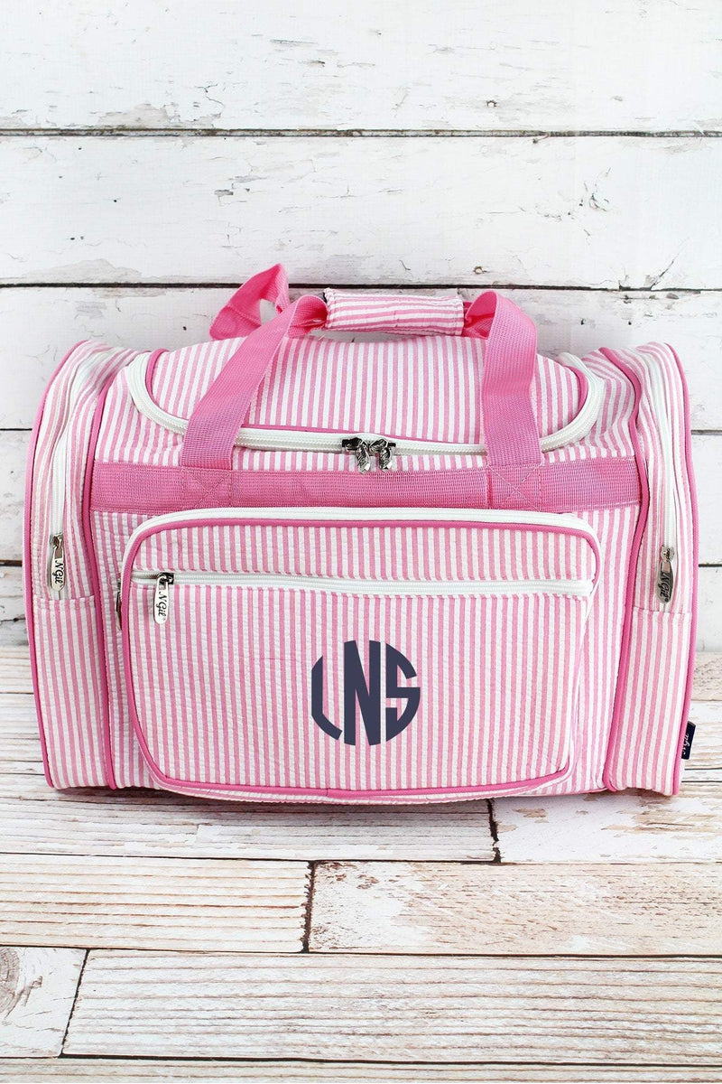 NGIL Pink Striped Seersucker Duffle Bag 20""