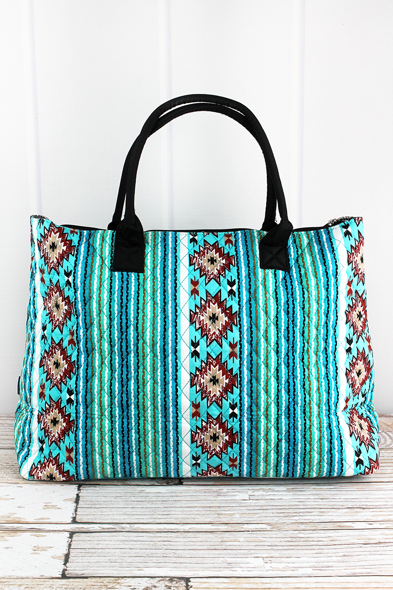 NGIL Adobe Sky Quilted Large Shoulder Tote
