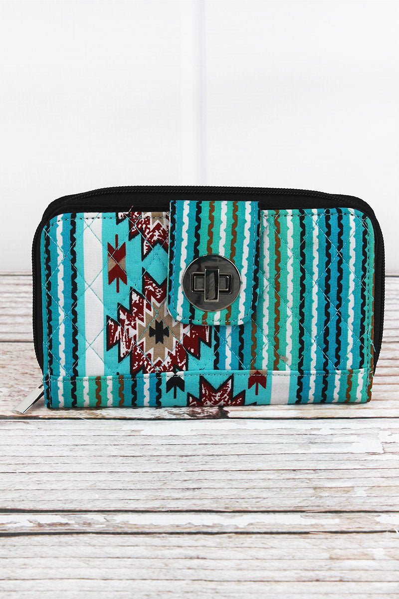 NGIL Adobe Sky Quilted Organizer Clutch Wallet