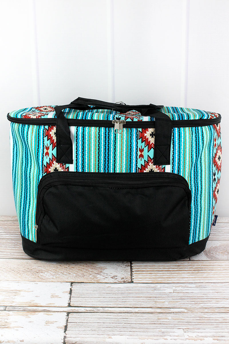 NGIL Adobe Sky and Black Cooler Tote with Lid