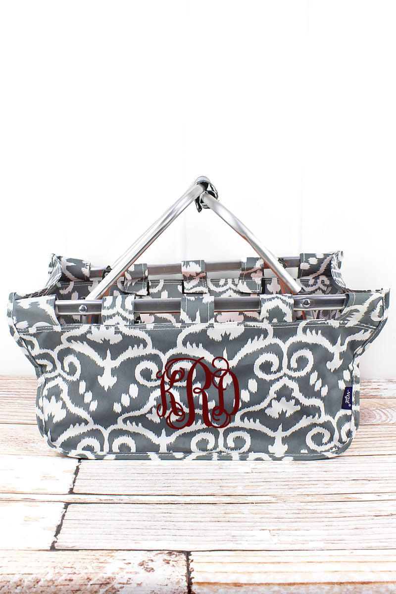 NGIL Dizzy Damask Collapsible Market Basket