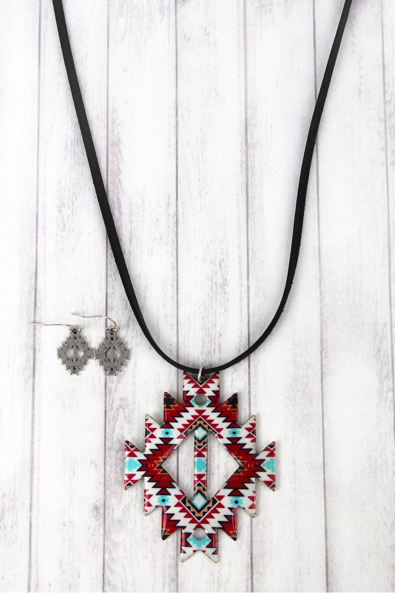 Santa Fe Life Faux Suede Necklace and Earring Set