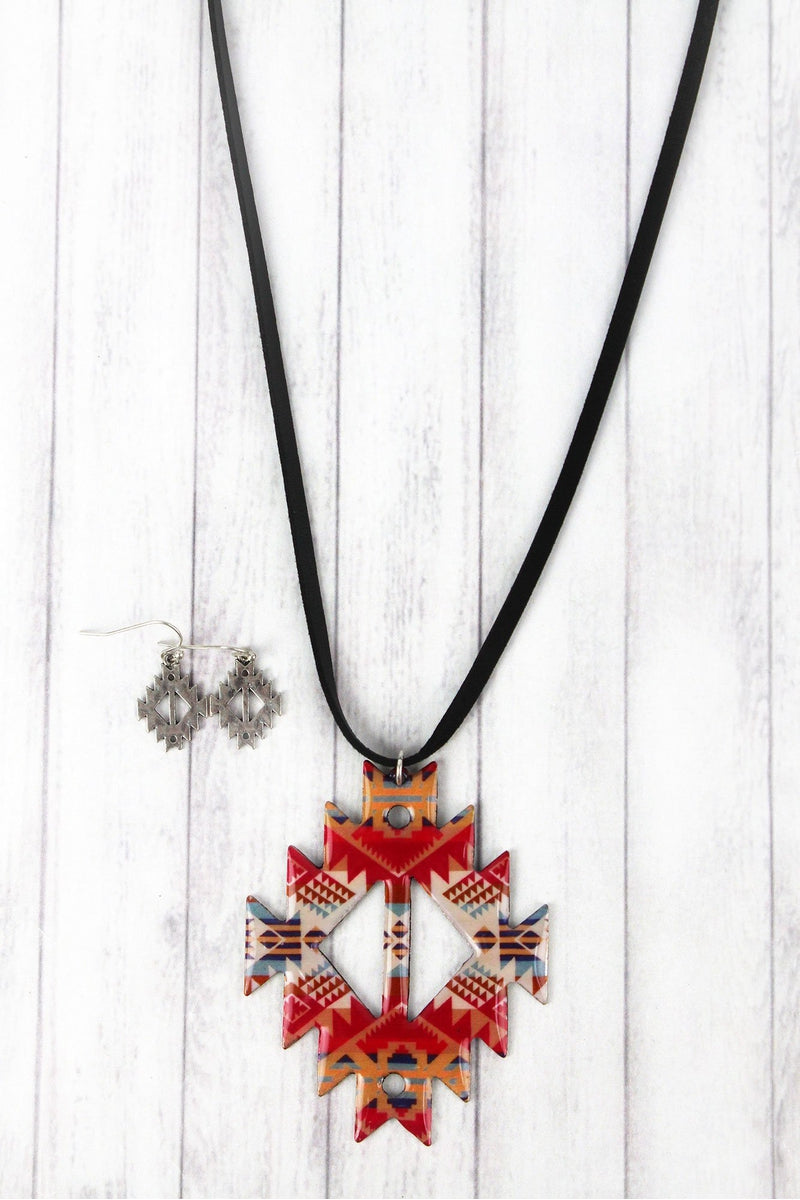 Santa Fe Sunset Faux Suede Necklace and Earring Set