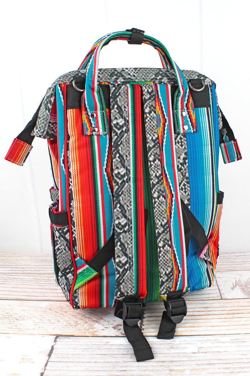 NGIL Slithering Serape Diaper Bag Backpack