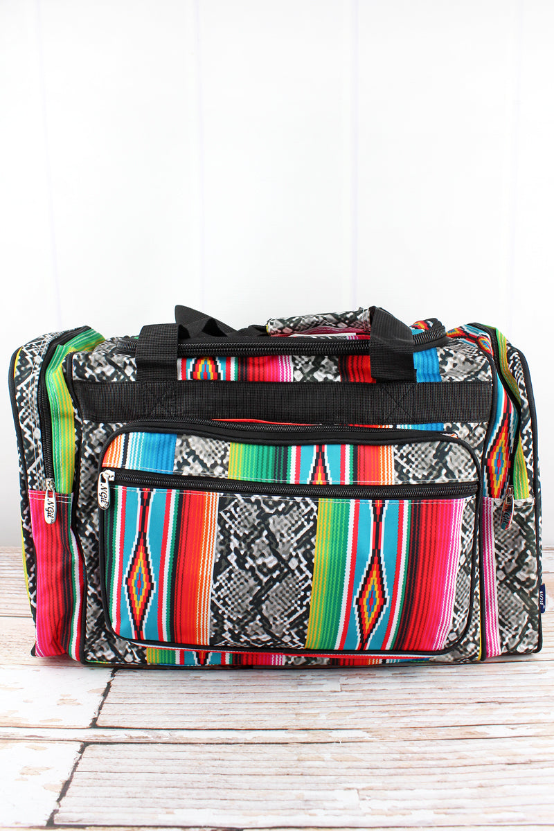 NGIL Slithering Serape Duffle Bag with Black Trim 20""