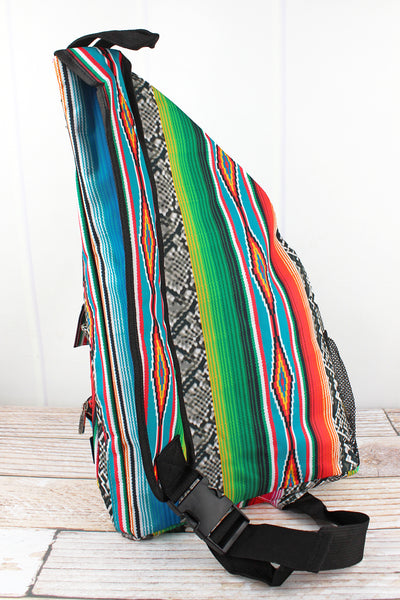 NGIL Slithering Serape Sling Backpack with Black Trim