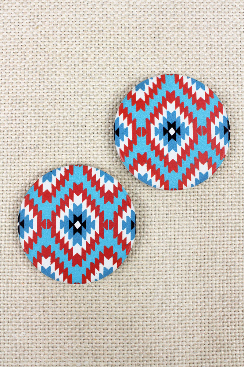 2 Piece Southwestern Skies Car Coaster Set
