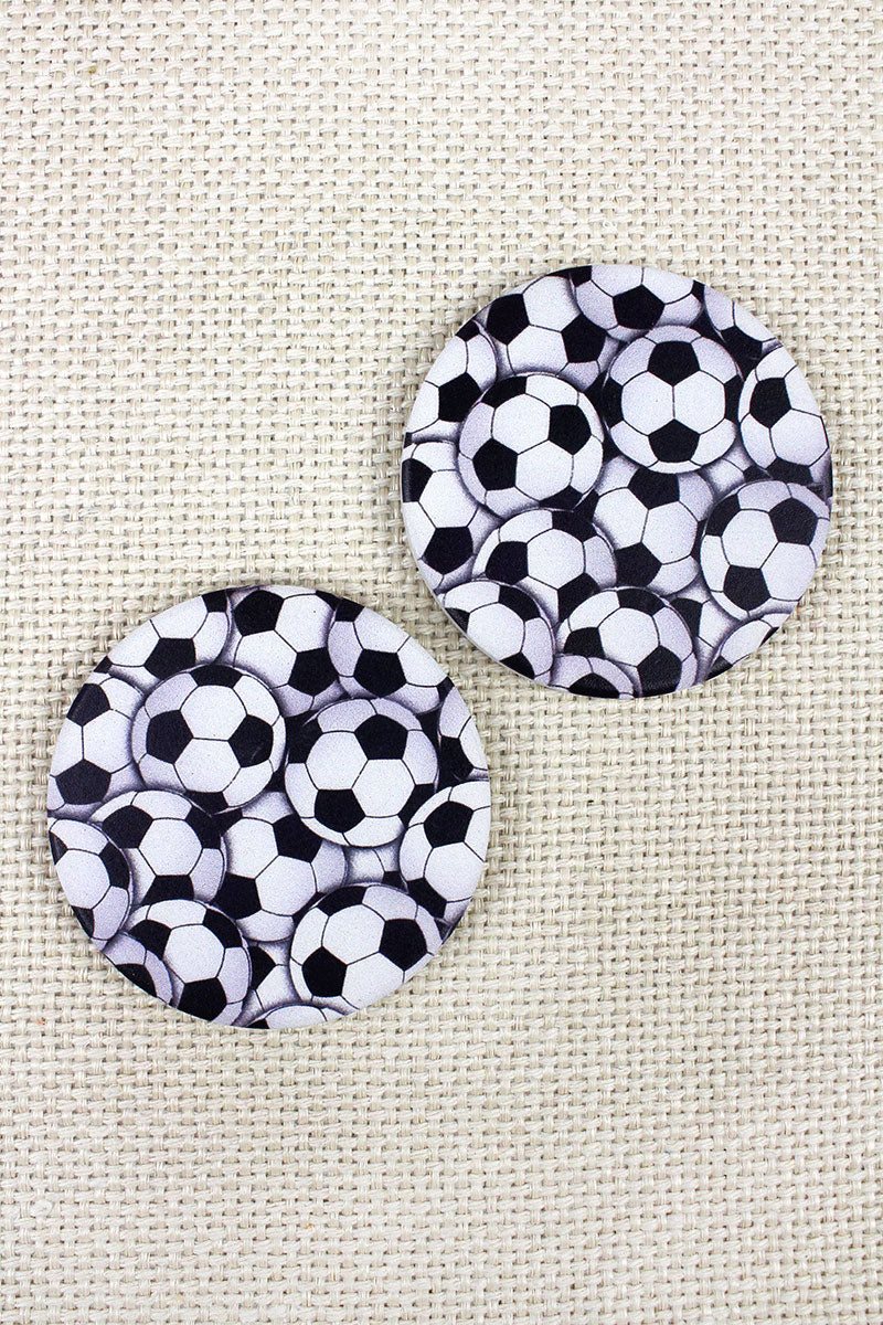 2 Piece Soccer Car Coaster Set