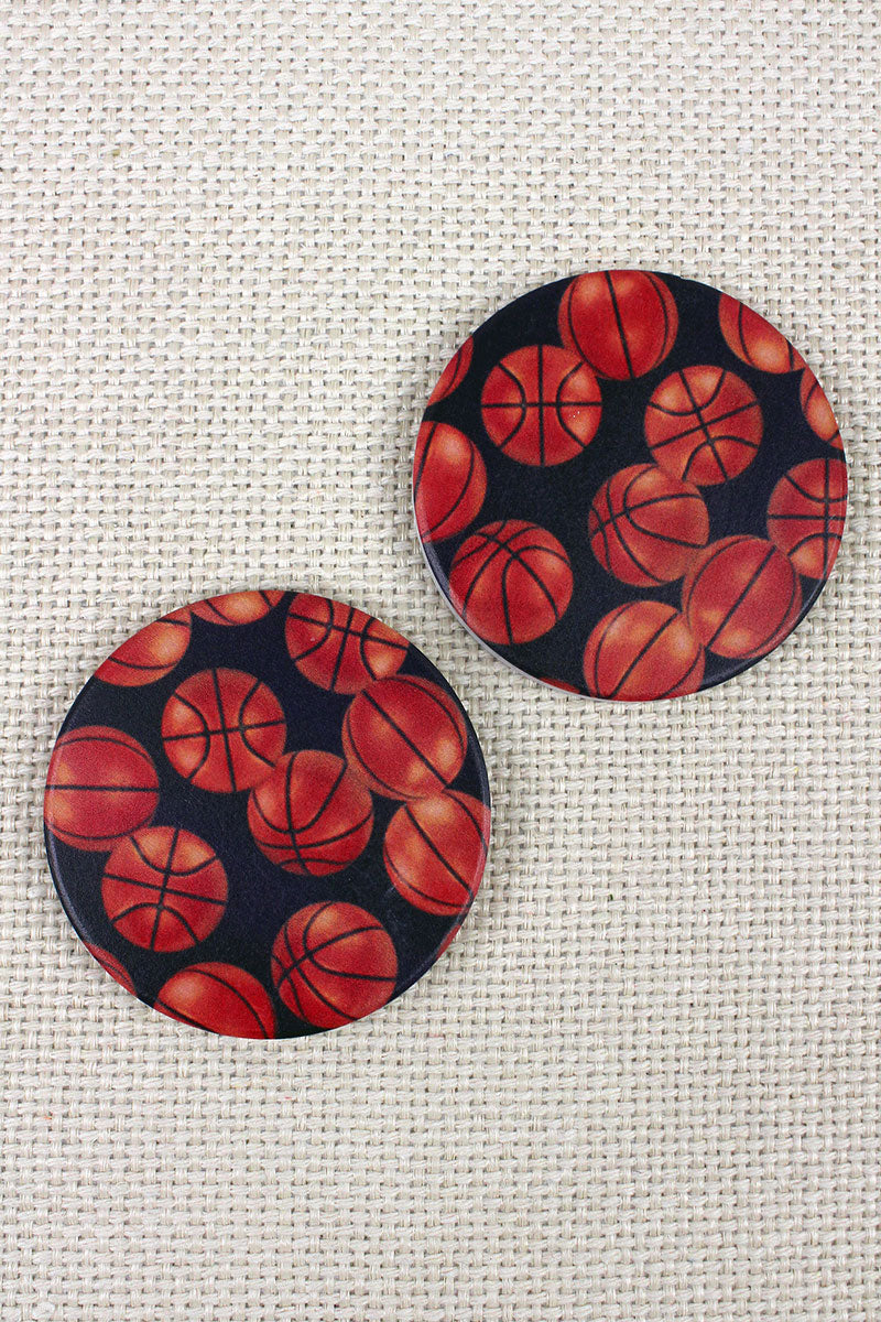 2 Piece Basketball Car Coaster Set