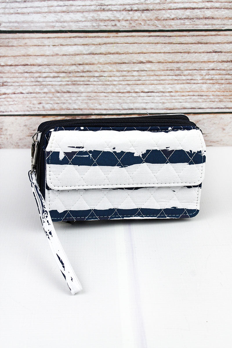 NGIL Ocean Breeze Quilted Crossbody Organizer Clutch