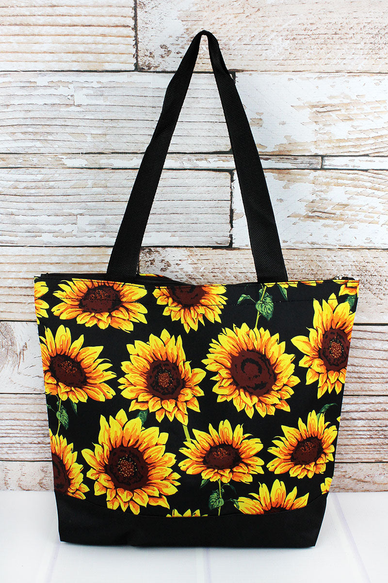 NGIL Sunflower with Black Trim Tote Bag