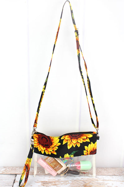 NGIL Sunflower Clear Crossbody Bag