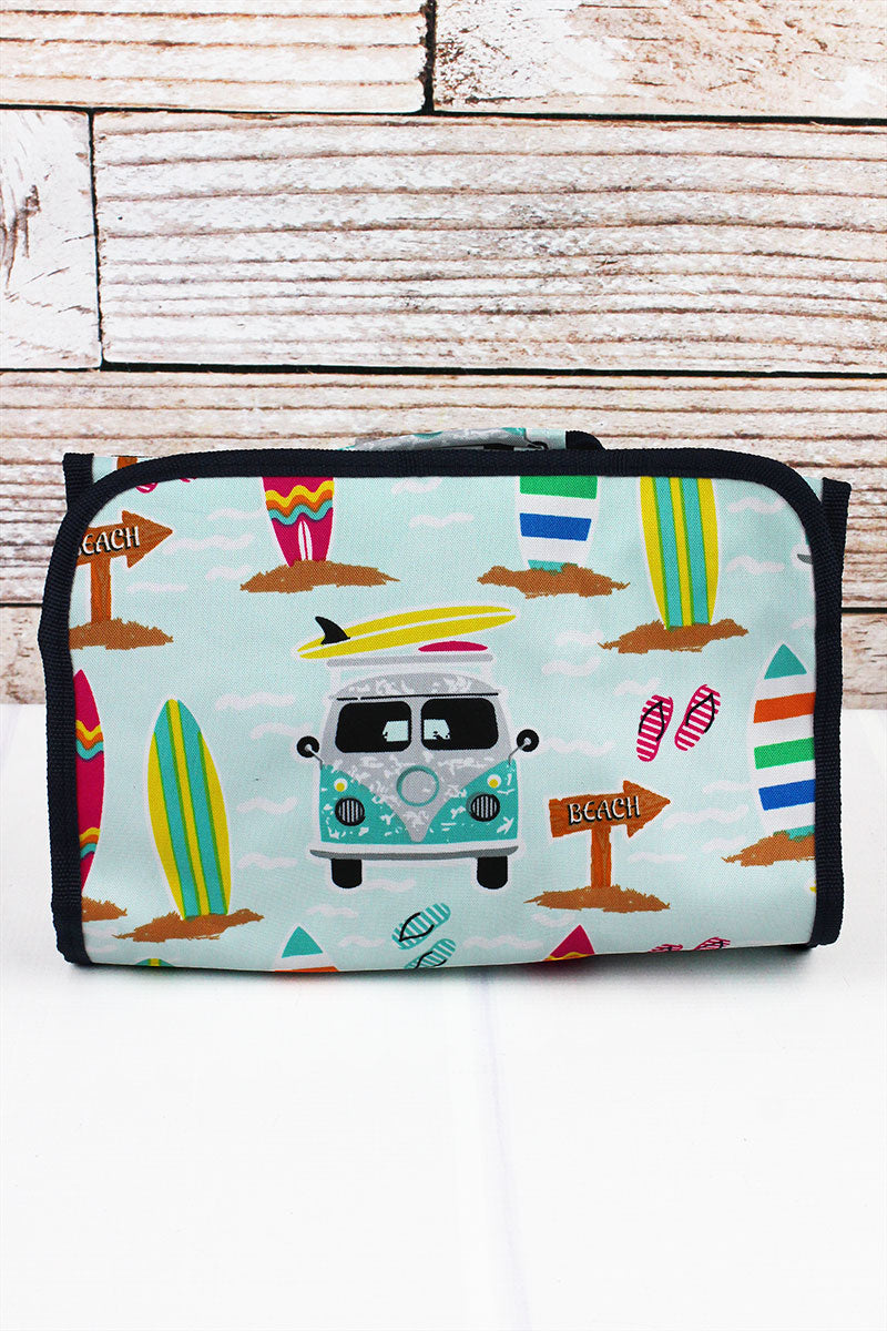 NGIL Surf's Up Roll Up Cosmetic Bag