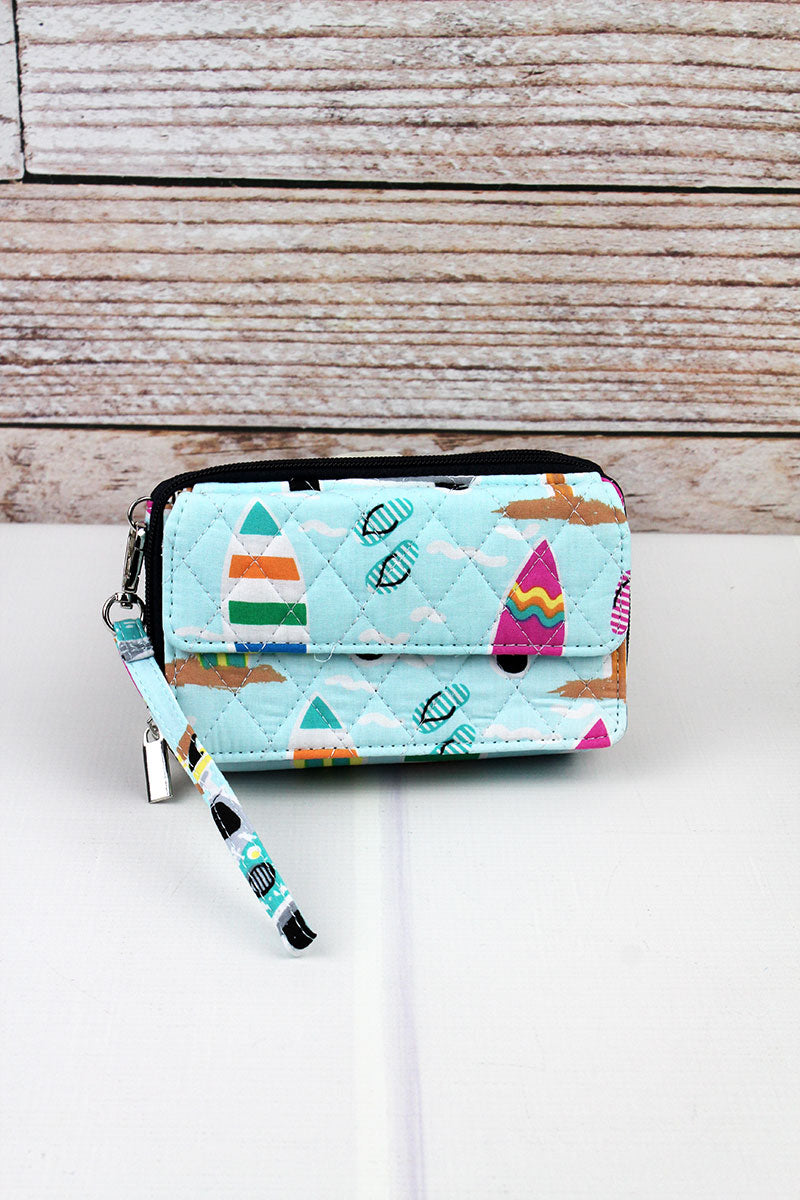 NGIL Surf's Up Quilted Crossbody Organizer Clutch