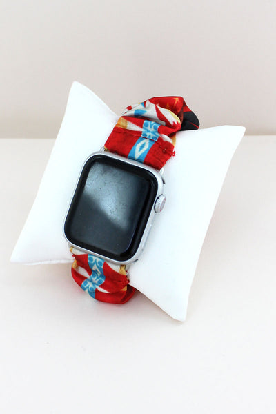 Red Mesa Scrunchie Band for Apple Watch, 38mm-40mm