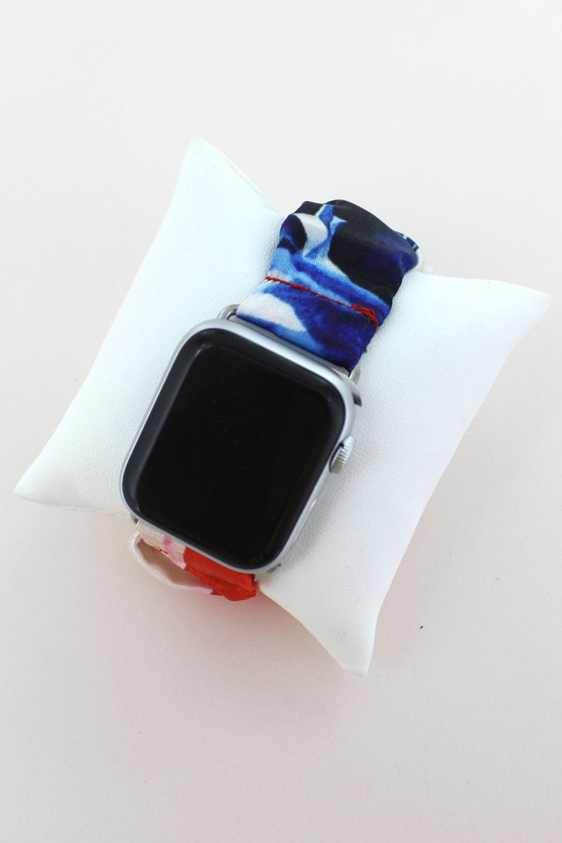 American Flag Scrunchie Band for Apple Watch, 42mm-44mm