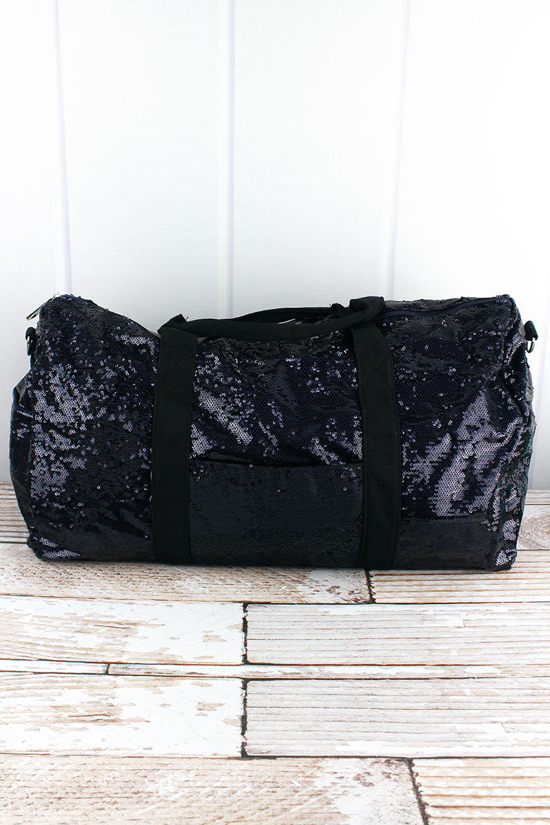 NGIL Navy Mermaid Sequin Duffle Bag 21""
