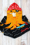 Kid's 'Ahoy Matey' Octopus Hooded Beach Towel
