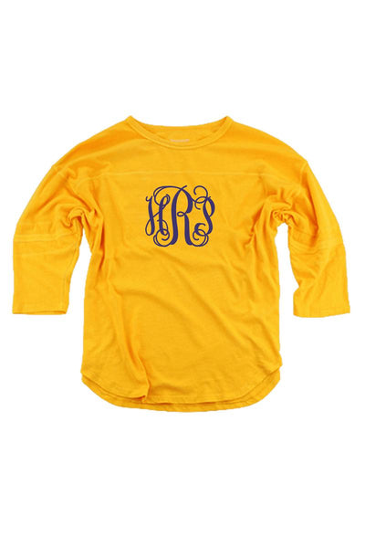 Athletic Gold Vintage Oversized Jersey #T19AG *Personalize It! (PLEASE ALLOW 3-5 BUSINESS DAYS. EXPEDITED SHIPPING N/A)