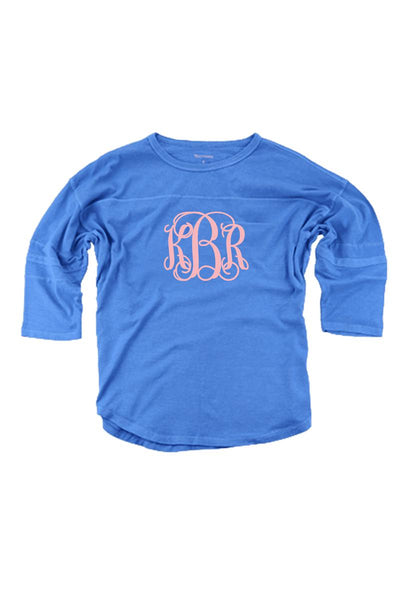 Beach Blue Vintage Oversized Jersey #T19BB *Personalize It! (PLEASE ALLOW 3-5 BUSINESS DAYS. EXPEDITED SHIPPING N/A)