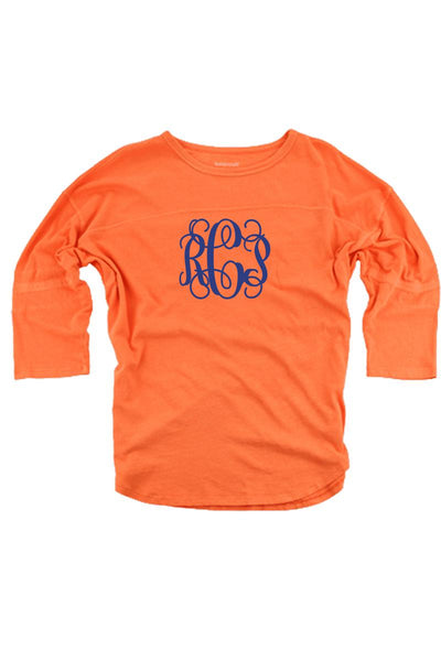 Orange Vintage Oversized Jersey #T19O *Personalize It! (PLEASE ALLOW 3-5 BUSINESS DAYS. EXPEDITED SHIPPING N/A)