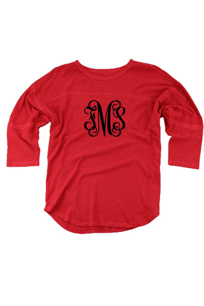 Red Vintage Oversized Jersey #T19R *Personalize It! (PLEASE ALLOW 3-5 BUSINESS DAYS. EXPEDITED SHIPPING N/A)
