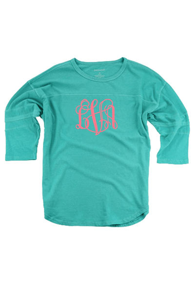 Teal Vintage Oversized Jersey #T19T *Personalize It! (PLEASE ALLOW 3-5 BUSINESS DAYS. EXPEDITED SHIPPING N/A)
