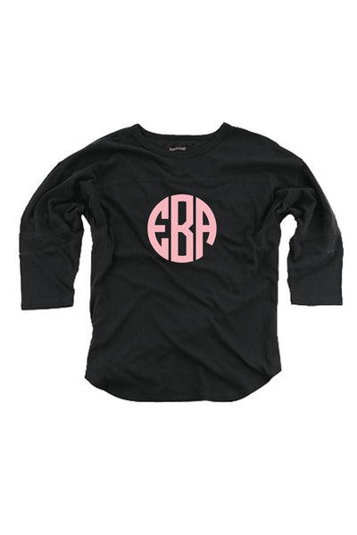 Black Vintage Oversized Jersey #T19B *Personalize It! (PLEASE ALLOW 3-5 BUSINESS DAYS. EXPEDITED SHIPPING N/A)