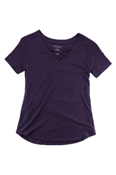 Boxercraft Purple Front Caged Tee