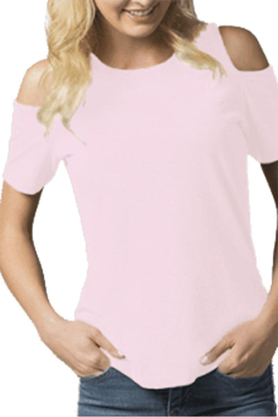 Boxercraft Cold Shoulder Tee, Pale Pink