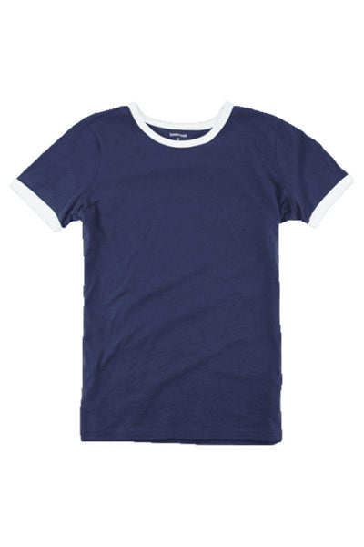 Boxercraft Navy and White Short Sleeve Ringer Tee