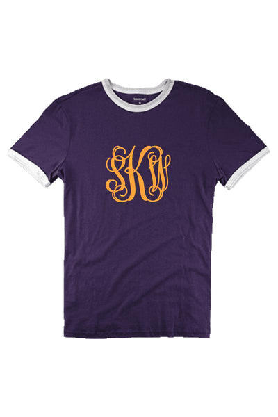 Boxercraft Purple and White Short Sleeve Ringer Tee