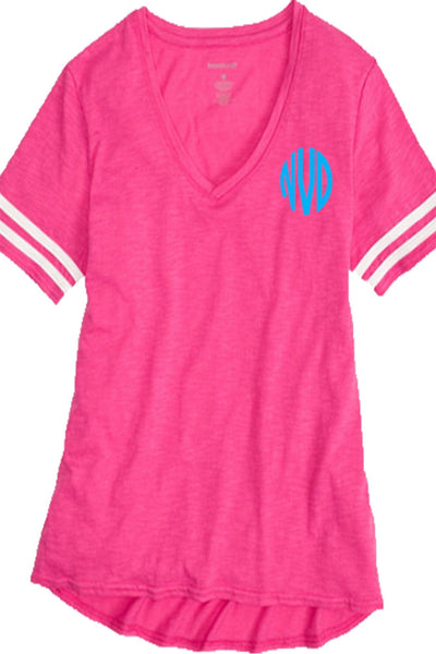 Sporty Slub Tee, Fuchsia *Personalize It