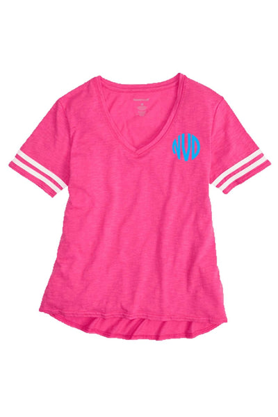Sporty Slub Tee, Fuchsia #T62 *Personalize It