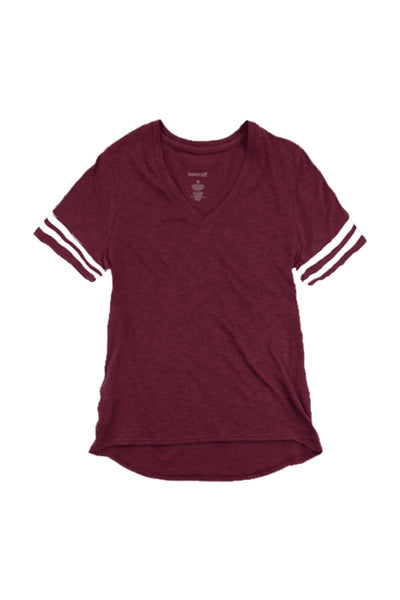 Football Girlfriend Sporty Slub Tee #T62 *Enter Initials and Player Number (Wholesale Pricing N/A) (PLEASE ALLOW 3-5 BUSINESS DAYS. EXPEDITED SHIPPING N/A) - Wholesale Accessory Market