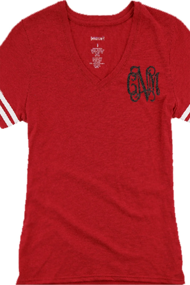Sporty Slub Tee, Red #T62 *Personalize It (PLEASE ALLOW 3-5 BUSINESS DAYS. EXPEDITED SHIPPING N/A)