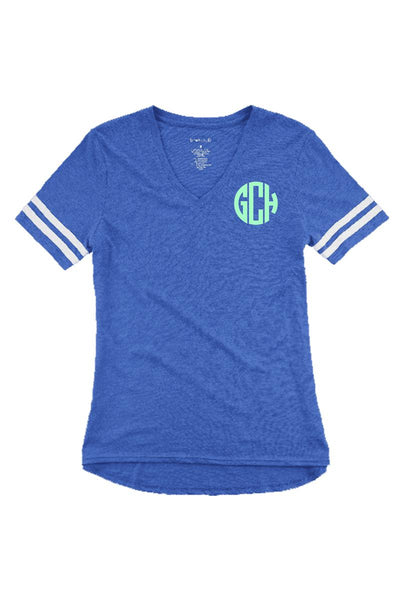 Sporty Slub Tee, Royal #T62 *Personalize It (PLEASE ALLOW 3-5 BUSINESS DAYS. EXPEDITED SHIPPING N/A)