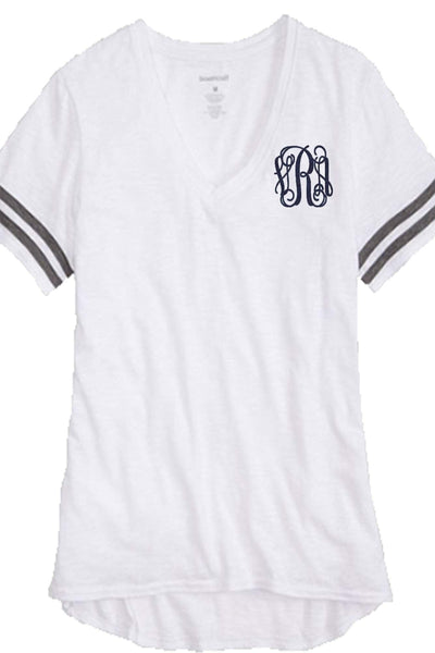 Boxercraft Sporty Slub Tee, White *Personalize It