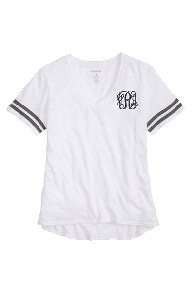 Sporty Slub Tee, White #T62 *Personalize It