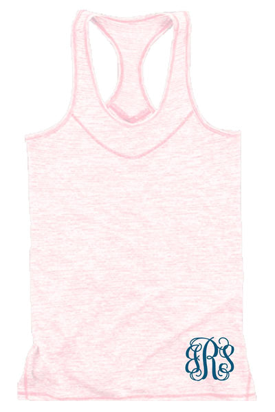 Pale Pink Tiger Slub Tank #T81PK *Personalize It! (PLEASE ALLOW 3-5 BUSINESS DAYS. EXPEDITED SHIPPING N/A)