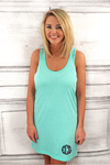 Mint Tank Dress/Cover Up #T83 *Personalize It (PLEASE ALLOW 3-5 BUSINESS DAYS. EXPEDITED SHIPPING N/A)