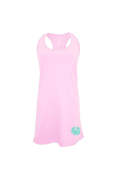 Pale Pink Tank Dress/Cover Up #T83 *Personalize It (PLEASE ALLOW 3-5 BUSINESS DAYS. EXPEDITED SHIPPING N/A)