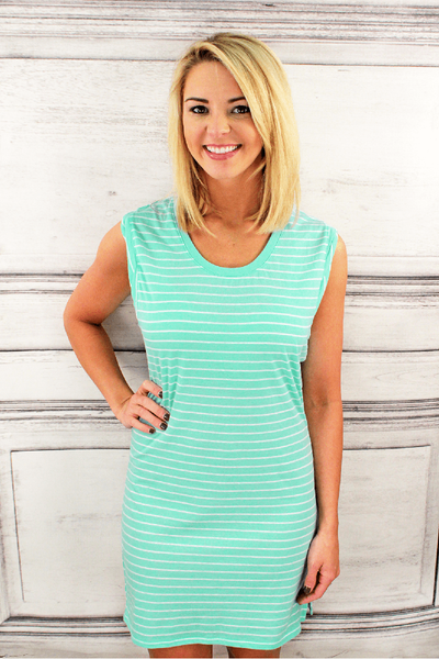 Boxercraft Granite Stripe Sleeveless Dress/Cover Up *Personalize It