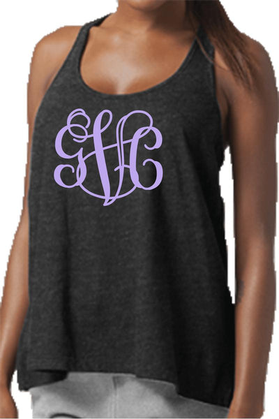 Charcoal Flare Tank Top #T87CH *Personalize It! (PLEASE ALLOW 3-5 BUSINESS DAYS. EXPEDITED SHIPPING N/A)