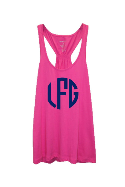 Fuchsia Flare Tank Top #T87F *Personalize It! (PLEASE ALLOW 3-5 BUSINESS DAYS. EXPEDITED SHIPPING N/A)