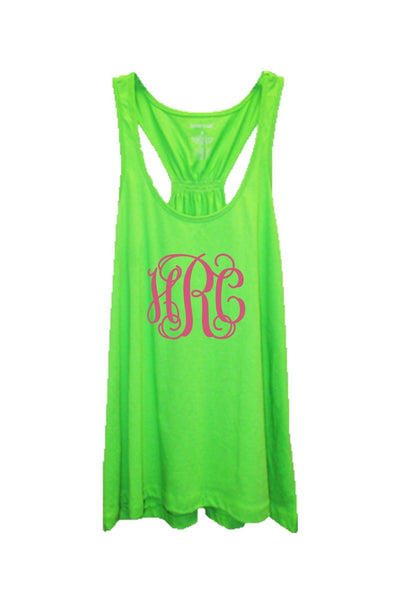 Lime Flare Tank Top #T87L *Personalize It! (PLEASE ALLOW 3-5 BUSINESS DAYS. EXPEDITED SHIPPING N/A)